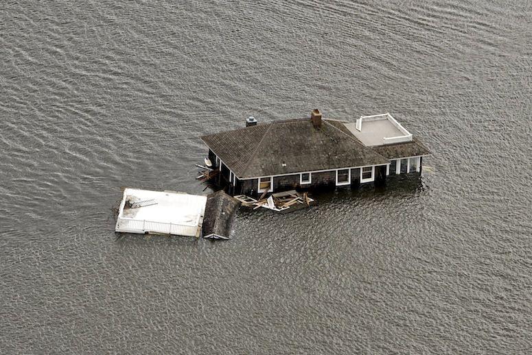 from hurricane Sandy